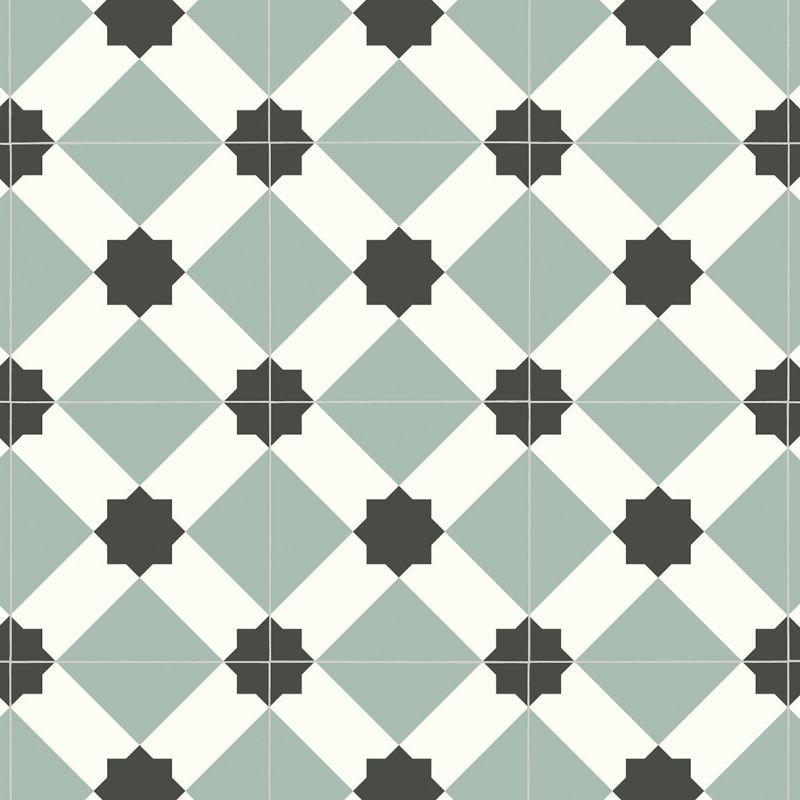 Papier Peint Intisse Scandinave Motif Losange Bleu Bjorn As