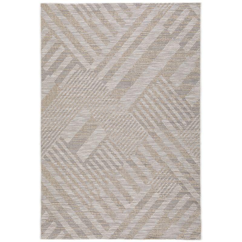 Papier peint à motif à rayures Dot beige/gris - SWING - Caselio