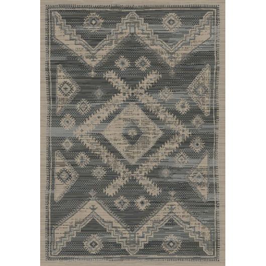 Sol vinyle carreaux de ciment noir et blanc LAGOS 909D - 3M -  BohoChic Beauflor