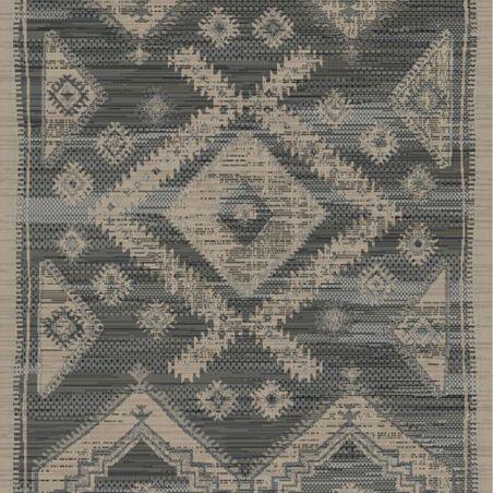 Sol vinyle carreaux de ciment rouge et gris LAGOS 491M - 3M -  BohoChic Beauflor