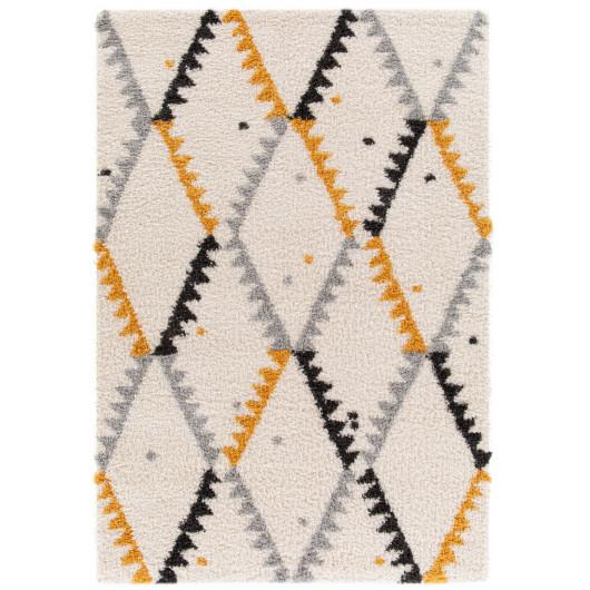 Tapis enfant Canvas - Piu Piu indien, vert et beige - 120x170cm.