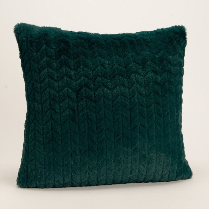coussin uni bleu nuit effet relief damier tout doux amadeus 40x40cm solcolor. Black Bedroom Furniture Sets. Home Design Ideas