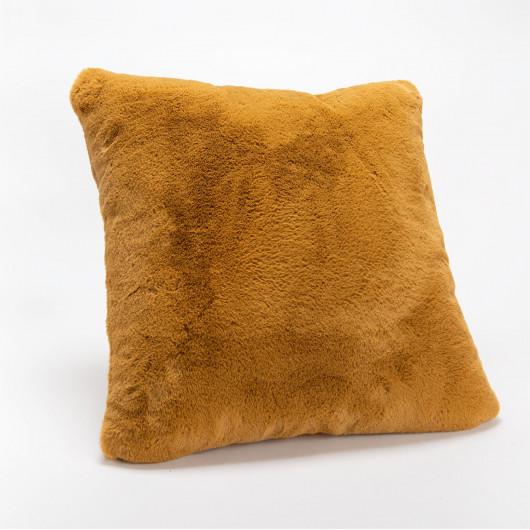 Plaid uni pastel vieux rose, effet relief damier, tout doux - Amadeus - 130x170cm.