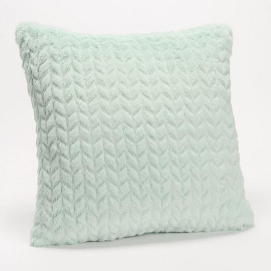 Coussin à motif PAON doré, bleu/vert - Amadeus - 30x50cm.