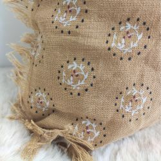 Tapis CANVAS à poils ras et motif géométrique fond beige - 120x170cm.