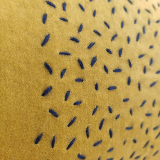 Tapis SHUFFLE  à motifs géométriques gris et blanc cassé - 120x170cm.