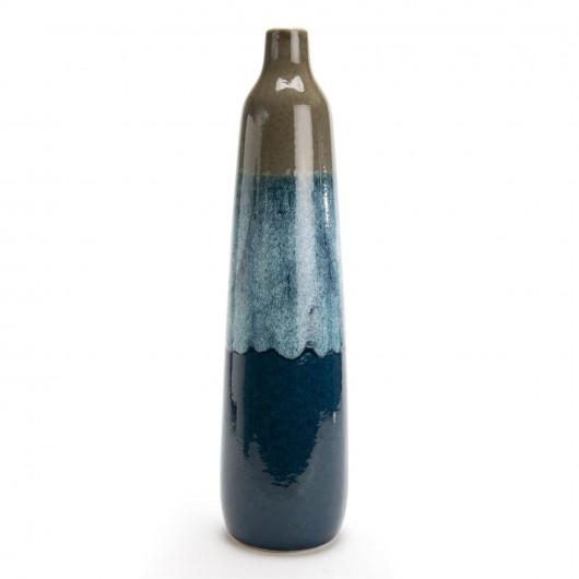 Tapis SHUFFLE gris et blanc cassé à motifs carrés - 120x170cm.