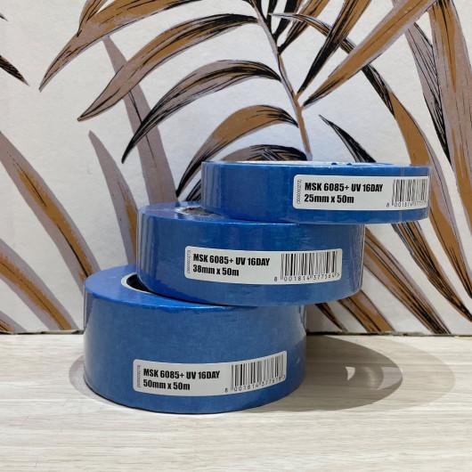 Papier peint vinyle à motif triangles 3D bleu et blanc - HEXAGONE - UGEPA