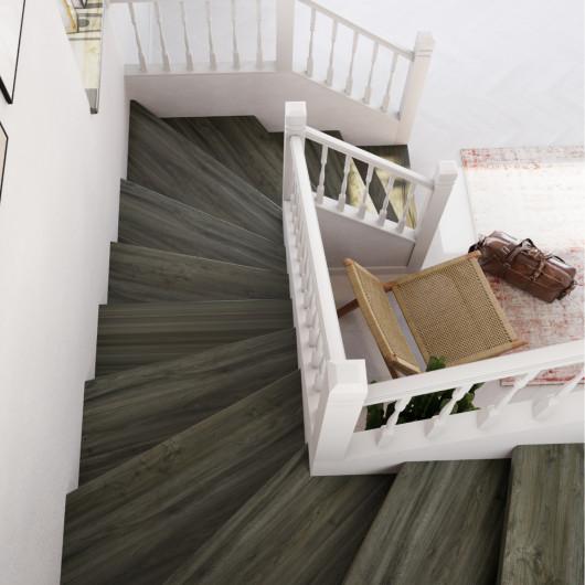 Papier peint intissé OLGA blanc et gris - GRANDECO