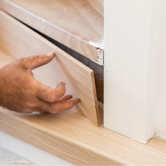 Tapis CANVAS motifs géométriques bleu et vert