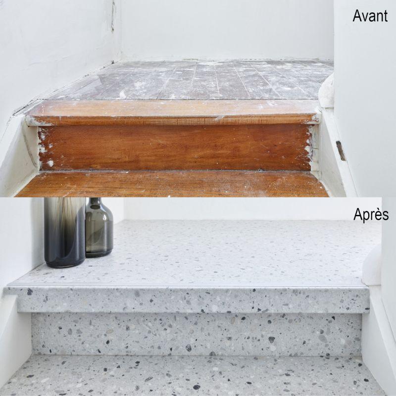 Tapis CANVAS motifs géométriques gris, bleu et jaune - 140x200cm