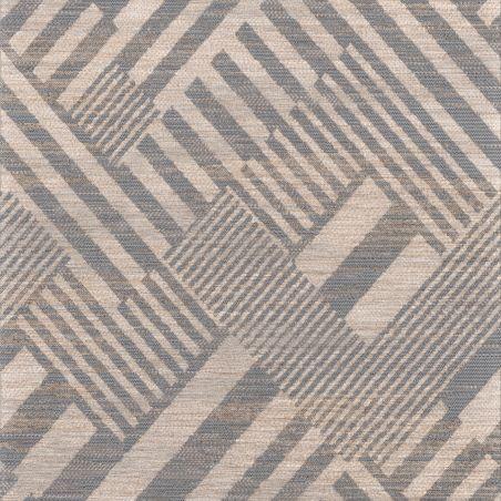 Tapis OPTIMIST à motif floral bleu, rouge et vert - 160x230cm