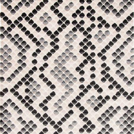 Tapis ELLE motif géométrique bleu foncé - 120x170cm