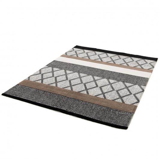 Papier peint à motif Cubes jaune et gris - GRANDECO Inspiration Wall