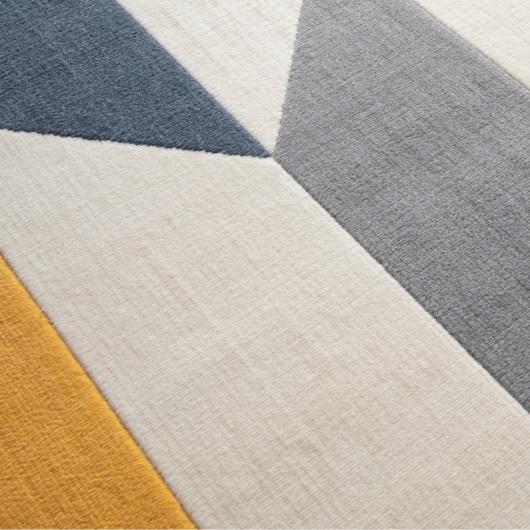 Papier peint Graphic - bleu et doré - Rasch