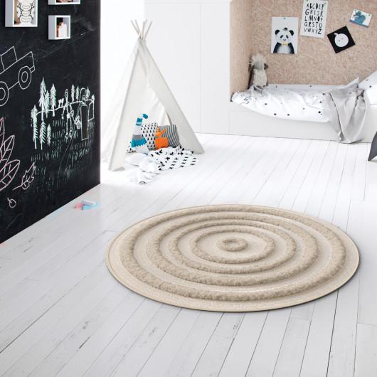 Papier peint uni Linen gris taupe clair - Caselio