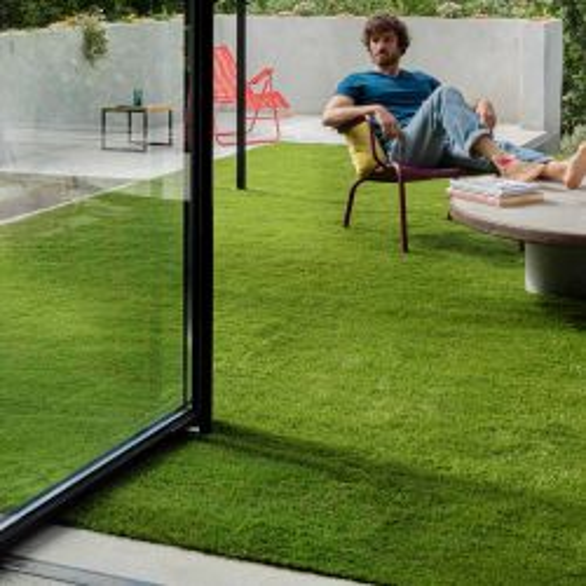 Tapis rond RICHIE pour enfant - tête d'ours taupe - diamètre 120cm.