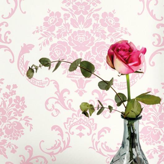Tapis rond RICHIE pour enfant - tête de renard taupe - diamètre 120cm.