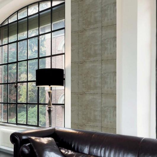Papier peint intissé PALMETTES art déco bleu et or - Rasch 637632