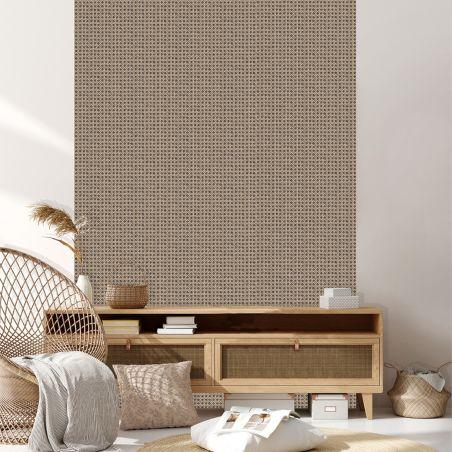 Papier peint grand motif géométrique bleu et lignes dorés - ONYX - UGEPA